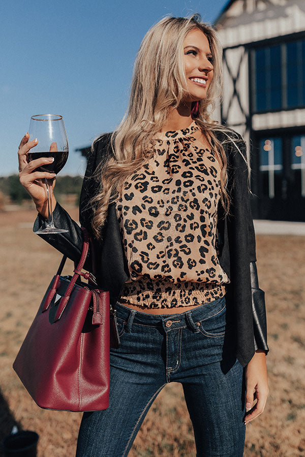 Sipping Martinis Leopard Tank
