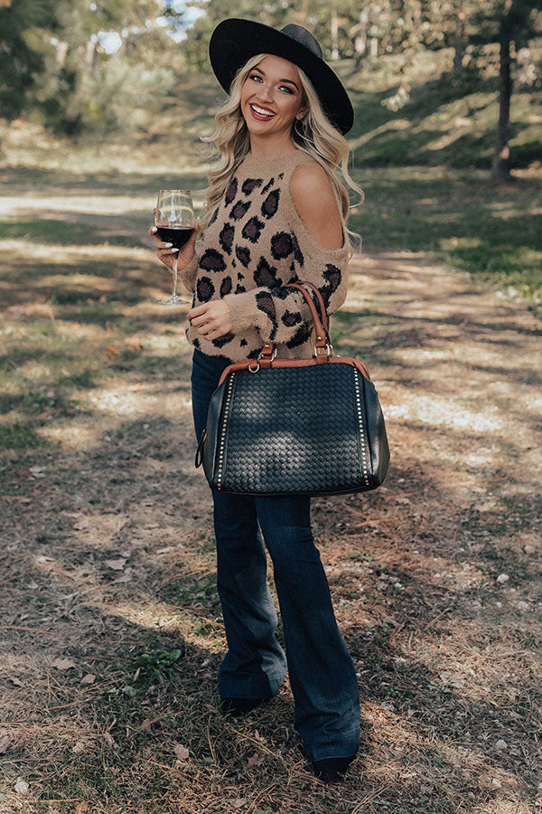 Chic Season Ultra Soft Leopard Sweater in Brown