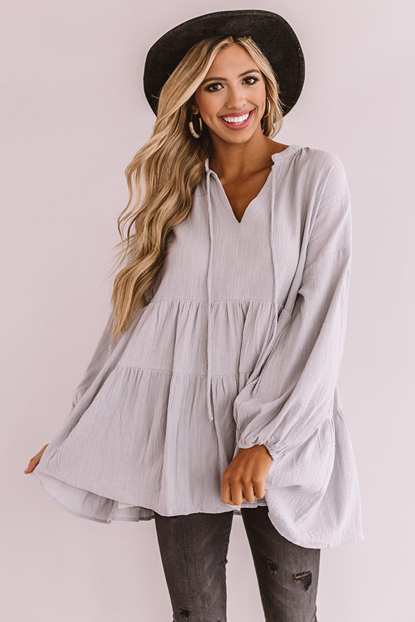 Must Be Manhattan Shift Top In Airy Blue