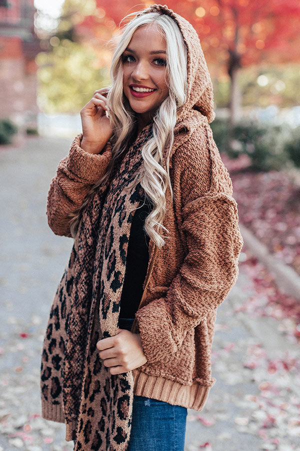 Keep On Cuddling Popcorn-Knit Jacket In Brown