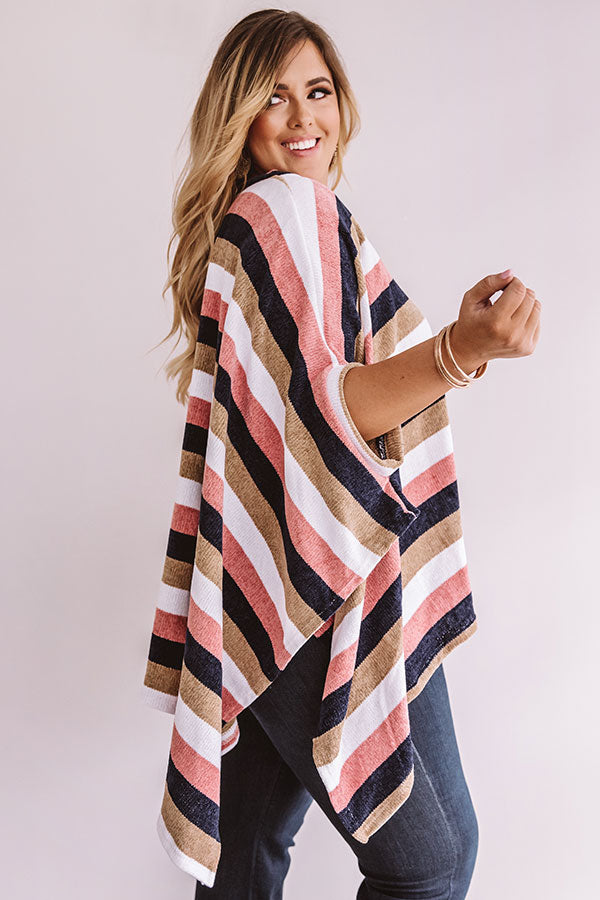 Radiating Warmth Chenille Poncho