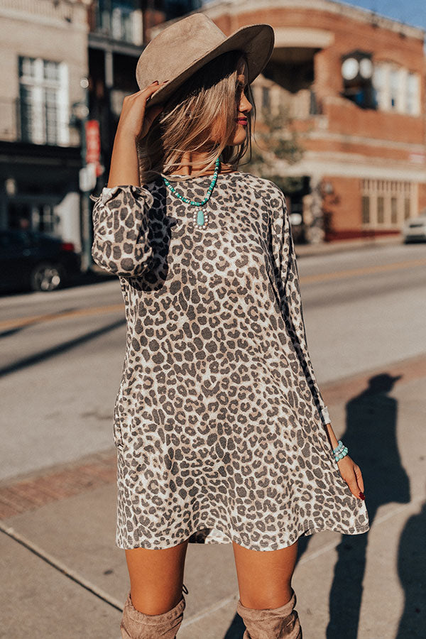 Full Of Love Leopard Shift Dress