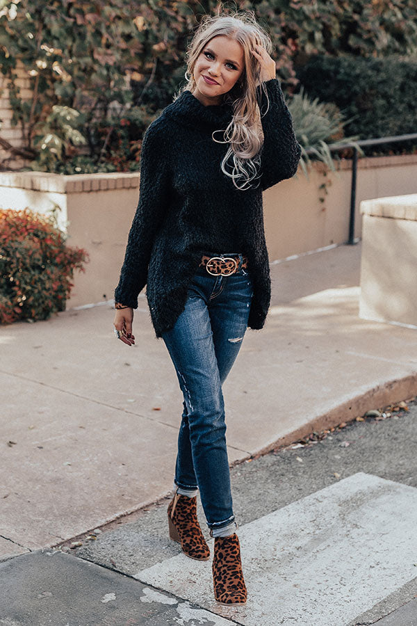 Softer Side Knit Sweater In Black