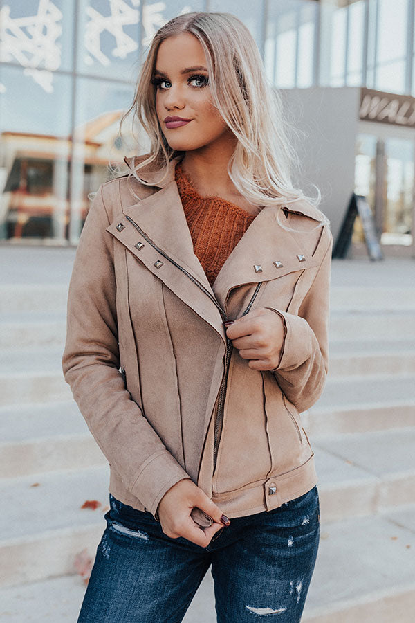 Playing For Keeps Faux Suede Jacket