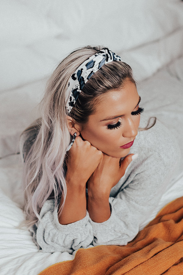 Flirty And Fashionable Leopard Headband In White