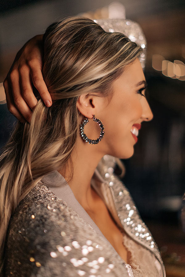 Gala Evening Hoop Earrings
