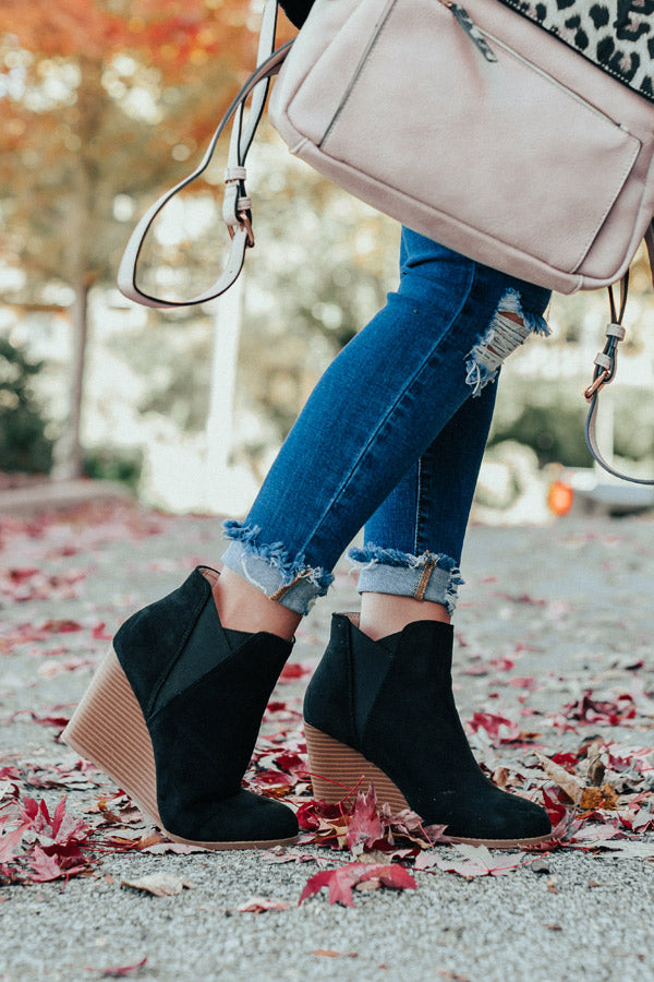 The Cort Faux Suede Bootie In Black