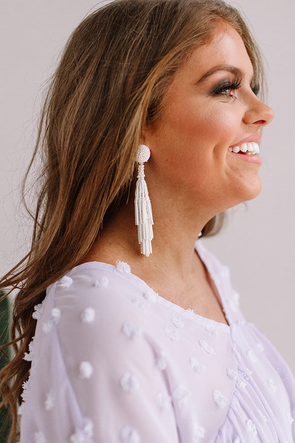 Forevermore Tassel Earrings In Ivory