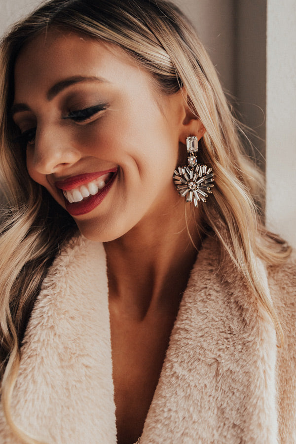 Prosecco At The Penthouse Earrings In Silver