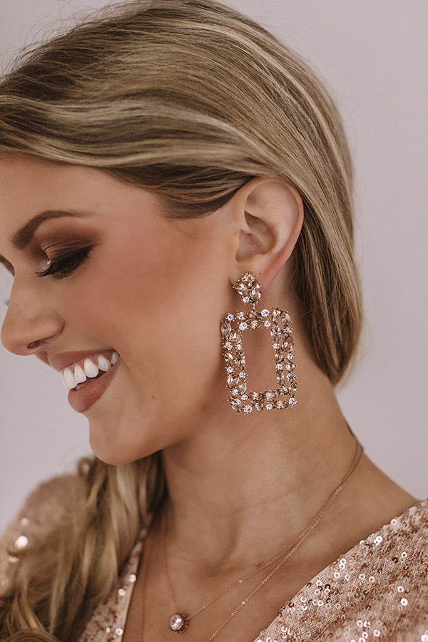 Prepared To Party Earrings In Rose Gold