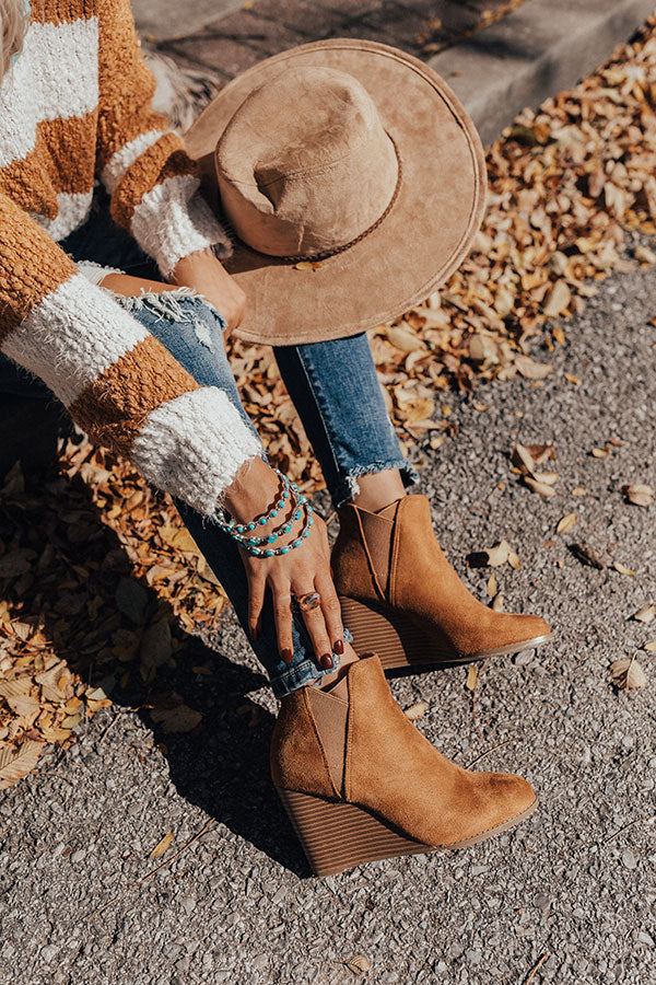 The Cort Faux Suede Bootie In Camel