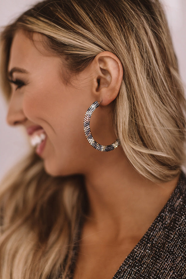 Style Story Rhinestone Hoop Earrings