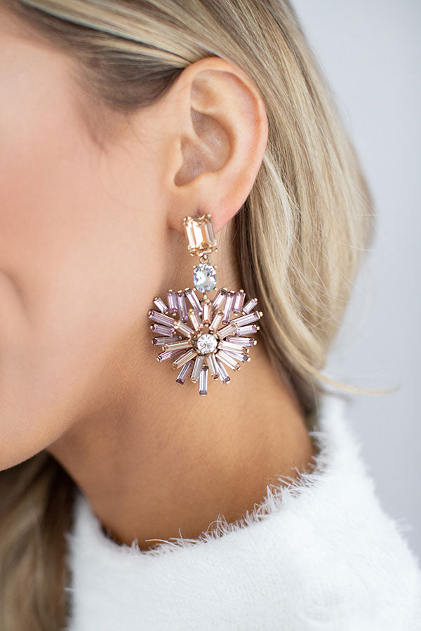 Prosecco At The Penthouse Earrings In Rose Gold