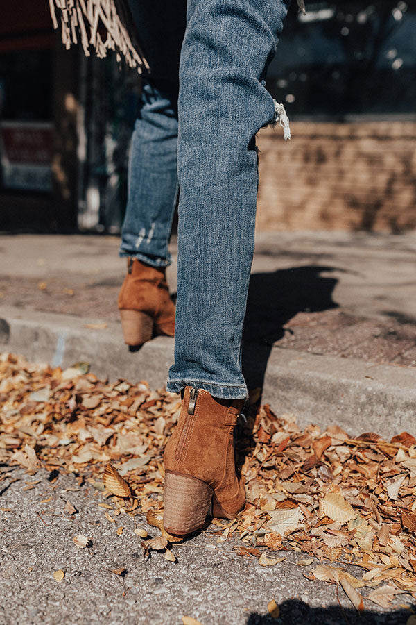 The Corey Faux Suede Bootie In Brown