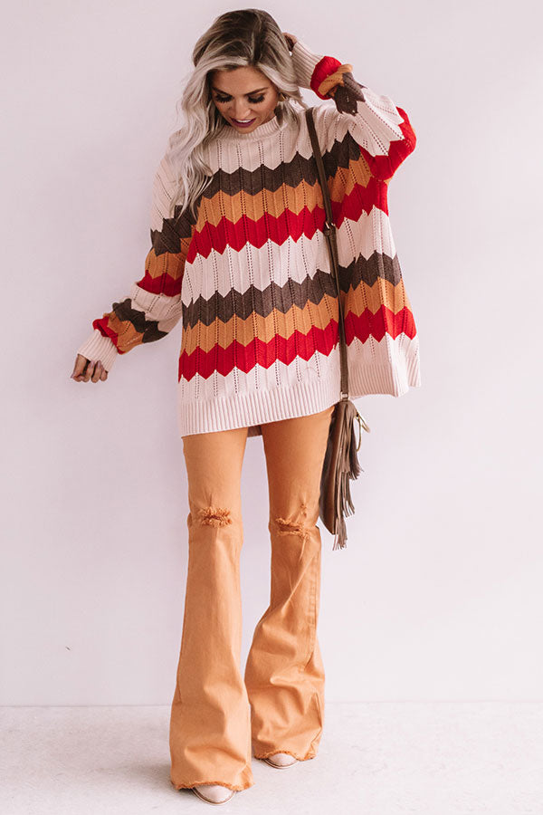 Cocoa And Campfires Knit Sweater