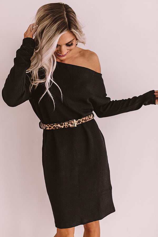 Girls Weekend Sweater Dress In Black