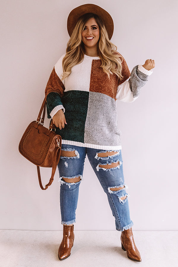 Cozy And Carefree Chenille Sweater in White