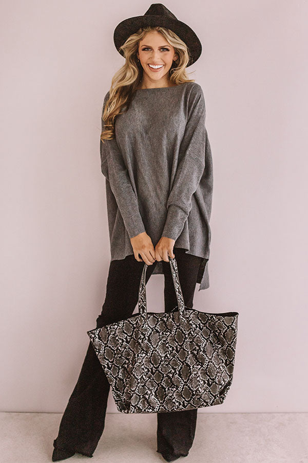 Cute And Capable Shift Top In Grey