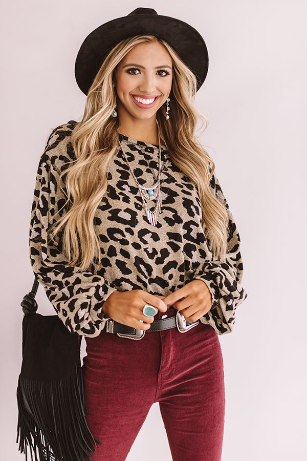 Girl About Town Leopard Top