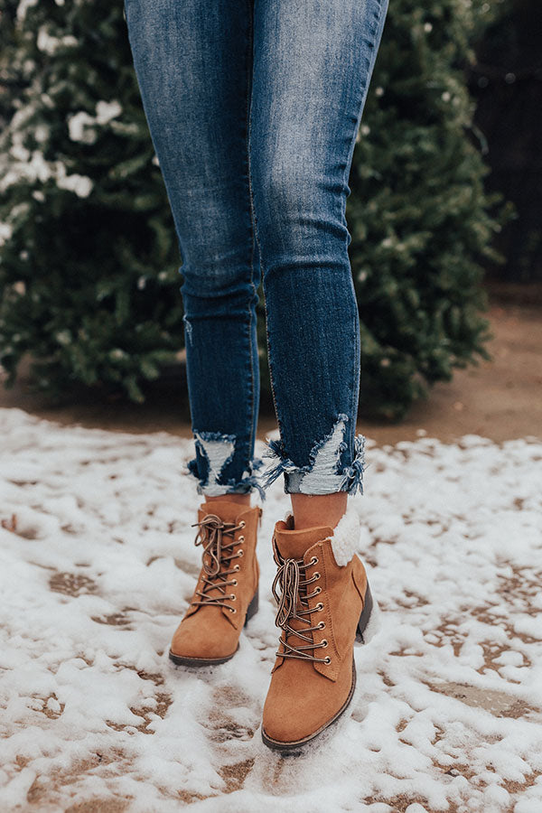 The Brooklyn Faux Suede Boot In Tan