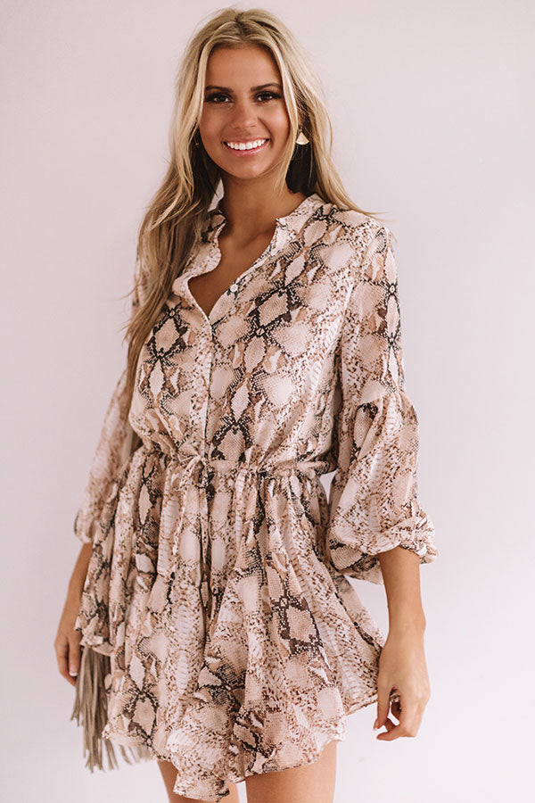 Plan For Fabulous Snake Print Shift Dress