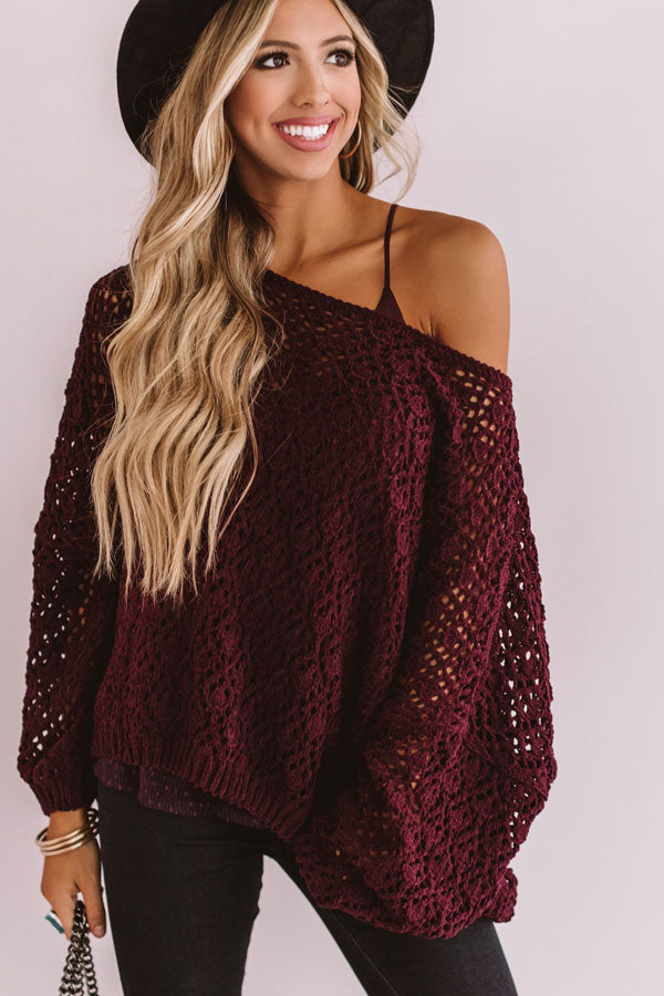 Craving Comfort Knit Sweater in Windsor Wine • Impressions ...