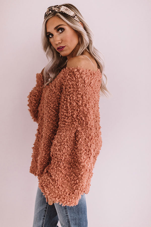 Keep It Close Knit Sweater in Light Rust