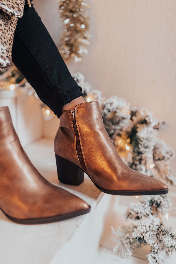 The Ramsey Faux Leather Bootie In Copper