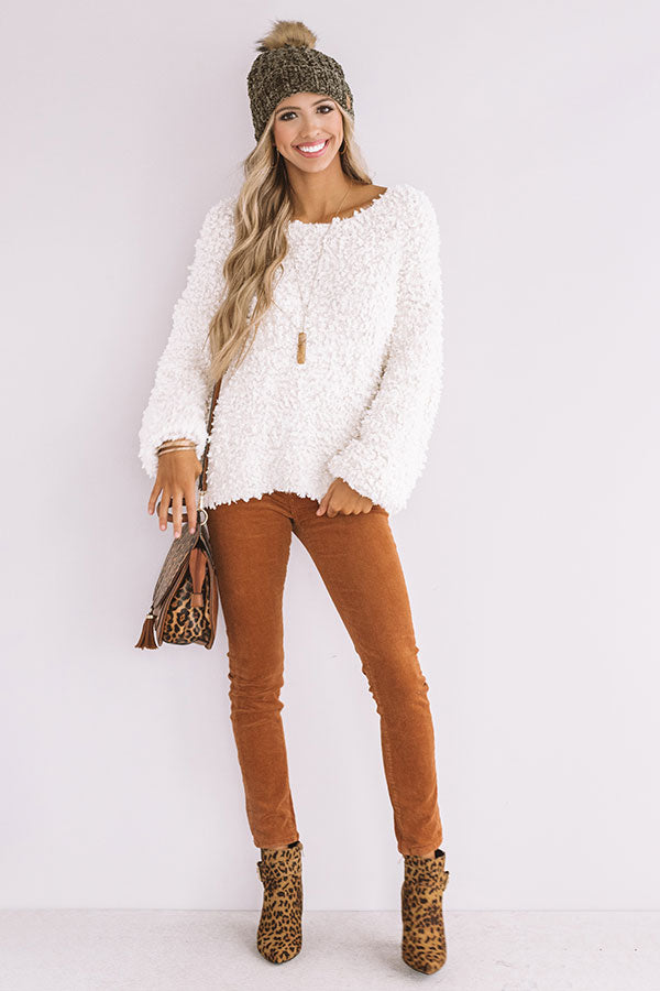 Keep It Close Knit Sweater in Ivory