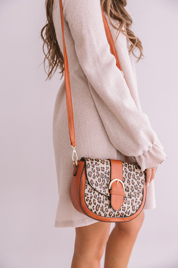 Showing Off Leopard Crossbody In Pumpkin