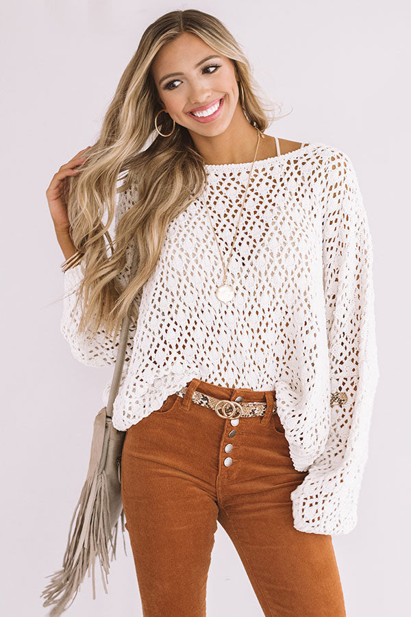 Craving Comfort Knit Sweater in Ivory