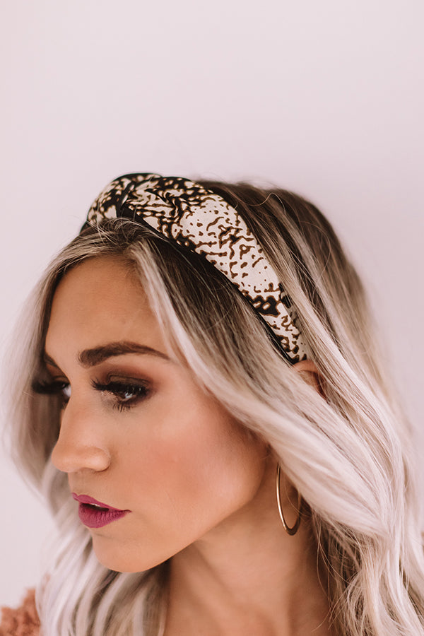 Cheers And Applause Snake Print Headband
