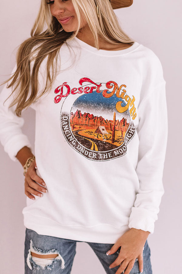 Desert Nights Sweatshirt In White