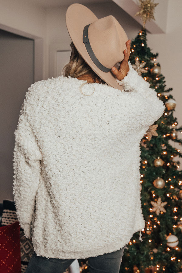 Marshmallow Delight Knit Cardigan In White