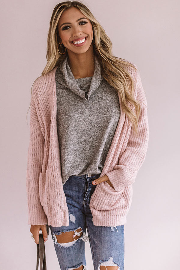 Delightful Dear Knit Cardigan In Pink