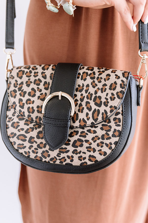 Showing Off Leopard Crossbody In Black