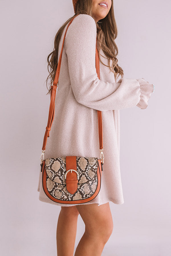 Showing Off Snake Print Crossbody
