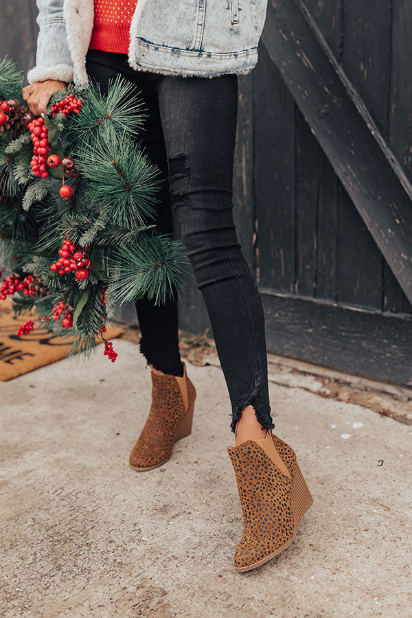 The Cort Faux Suede Cheetah Bootie