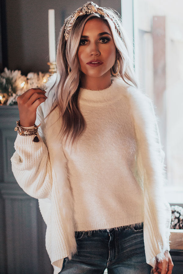 Snowflakes In Paris Knit Cardigan In White