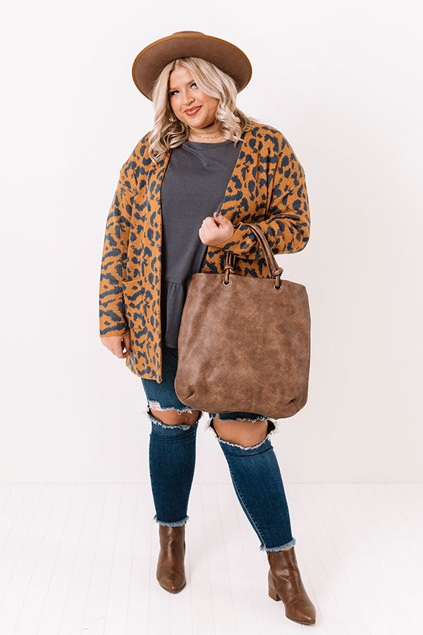 Good News On Repeat Leopard Cardigan