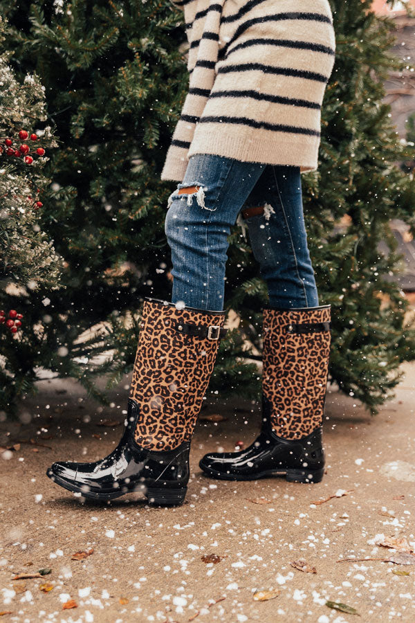 The Khloe Leopard Rain Boot