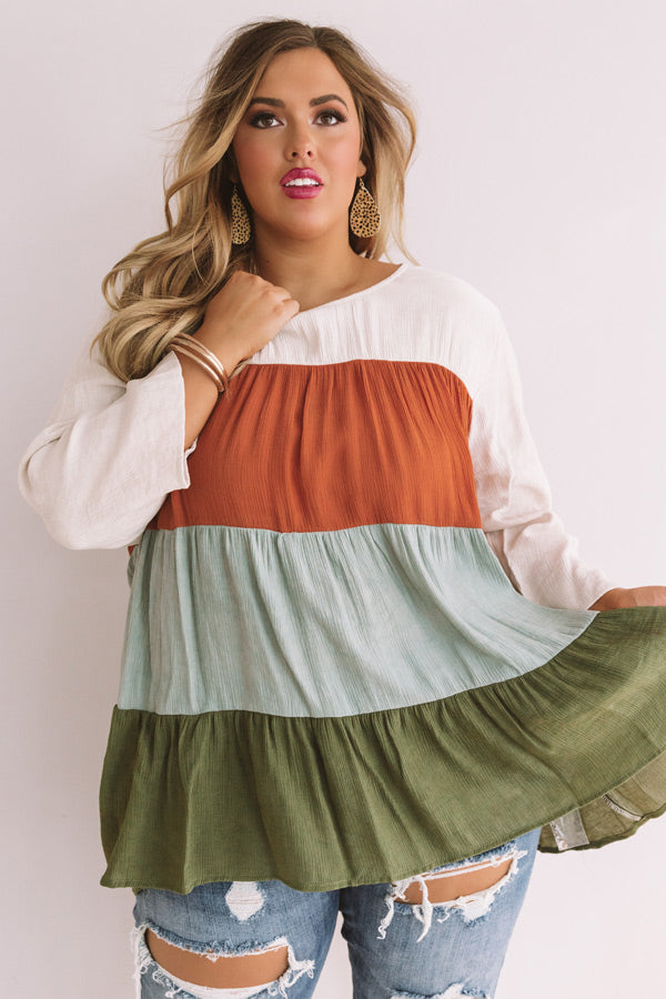 Leaves And Laughter Babydoll Top