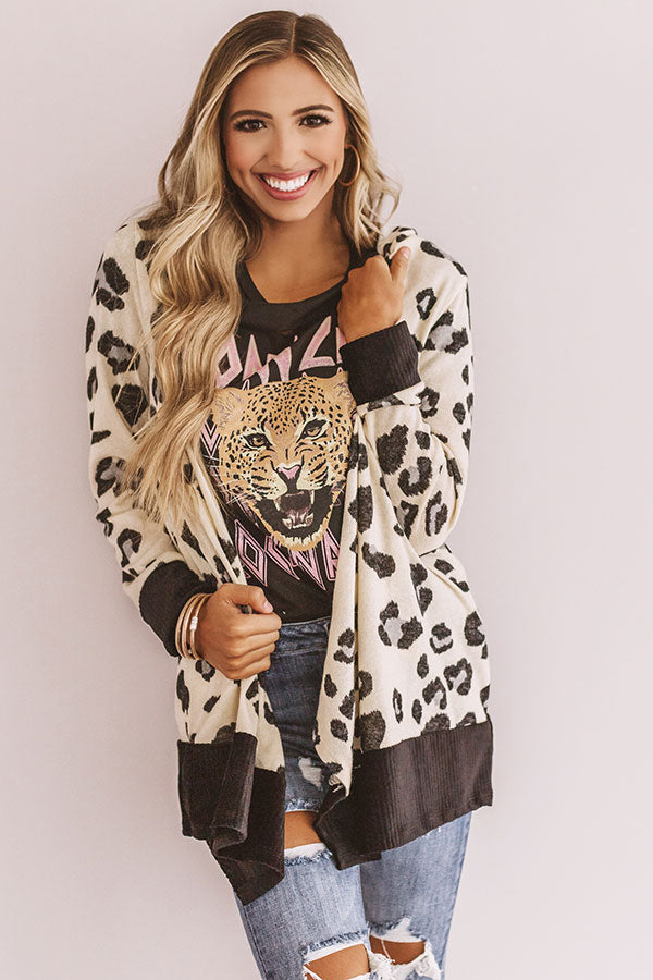 Fashionably Late Leopard Cardigan