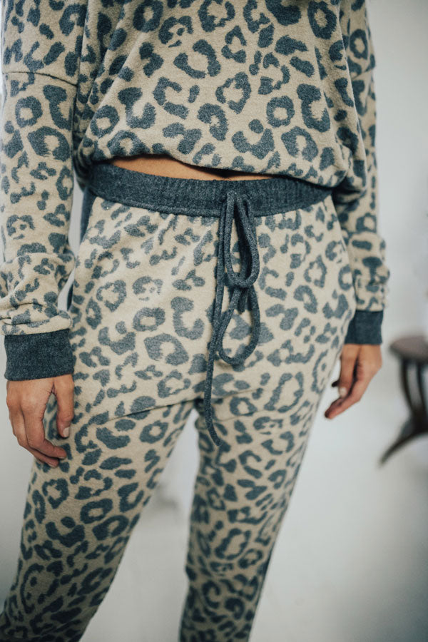 New Obsession Leopard Joggers