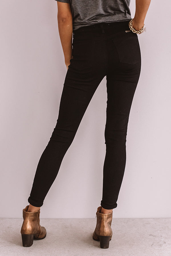 The Miller High Waist Distressed Skinny In Black