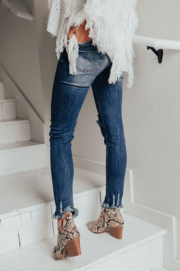 The Betsy Midrise Distressed Skinny
