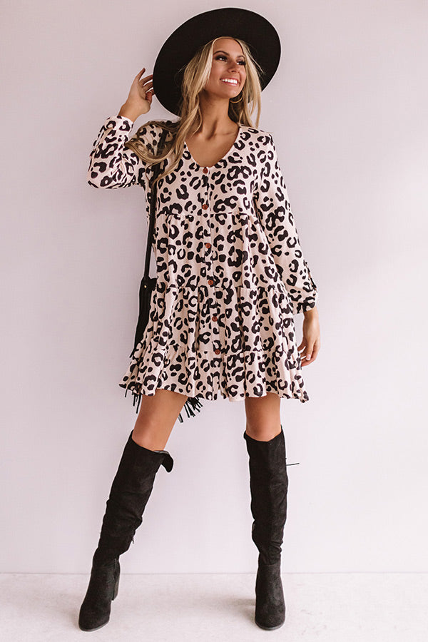 Cute And Cordial Leopard Babydoll Dress