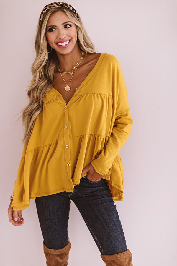Tribeca Treasure Shift Top in Marigold