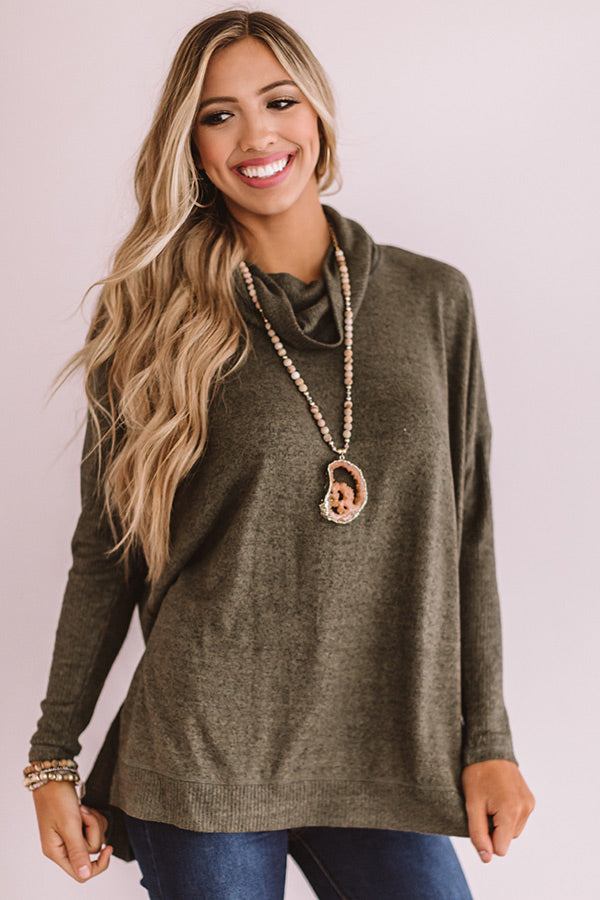 Season Of Happiness Shift Top In Olive