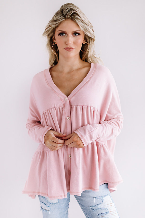Tribeca Treasure Shift Top in Pink